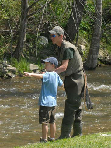 , Trout Fishing, Creekwood Village Resort